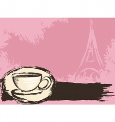 French coffee background vector image vector image