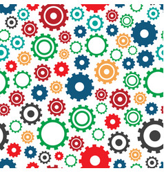gear machine pattern industry vector image