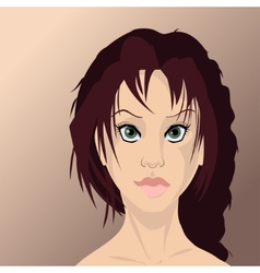 Girl face in high quality vector image vector image
