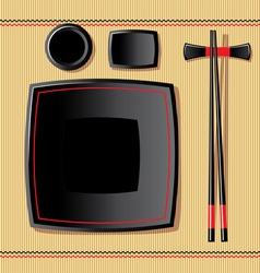 japanese tableware vector image vector image