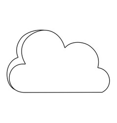 line nice cloud nature weather icon vector image vector image