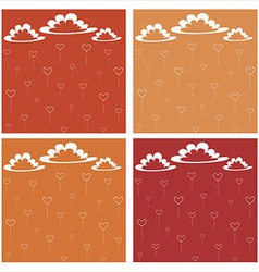 Many hearts are flying in the sky vector image vector image