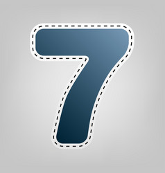 number 7 sign design template element vector image