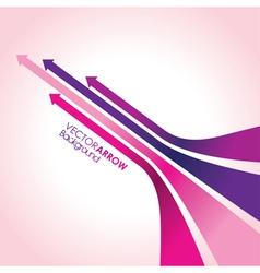 pink arrow strips vector image vector image