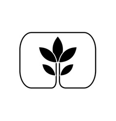 plant leaves natural environment symbol silhouette vector image