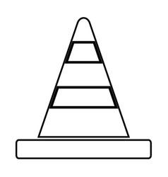 road cone black color icon vector image vector image