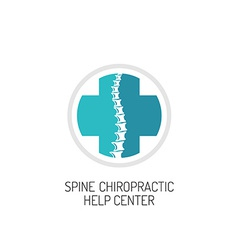 Spine chiropractic diagnostic and help center logo vector image
