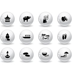 Web buttons thai icons vector image vector image