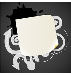 Abstract background with the blank white paper vector image vector image