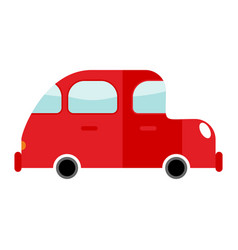 car red isolated transport on white background vector image vector image