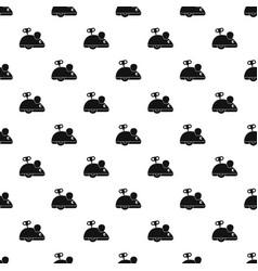 clockwork mouse pattern vector image vector image
