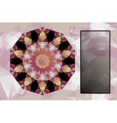 Design elements with abstract blank banner vector image
