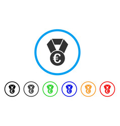 euro champion medal rounded icon vector image vector image