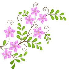 Floral design element for page decoration flowers vector