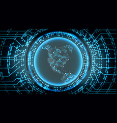 future technology cyber concept background north vector image vector image