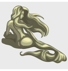 Mermaid sculpture on the back vector image vector image