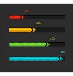 Progress loading bars vector image