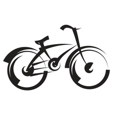 bike freehand drawing black and white vector image