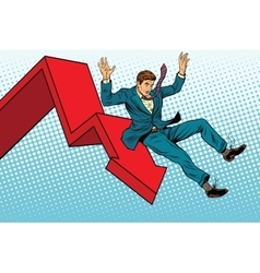 Business male financial collapse fall and ruin vector image vector image