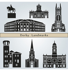 Derby landmarks and monuments vector image
