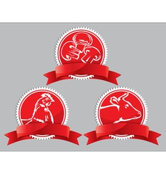 Food icon on a red background vector image