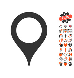 map pointer icon with lovely bonus vector image vector image