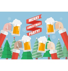 Merry christmas party vector
