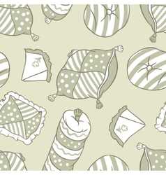 Seamless pillows pattern vector image