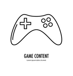 video game content icon vector image vector image