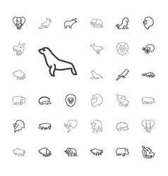 33 zoo icons vector