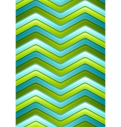 Abstract green and turquoise curved stripes vector image