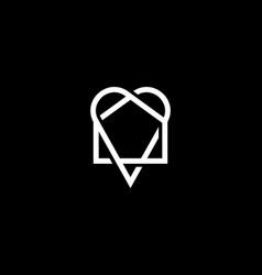 Abstract house in heart logo icon design vector