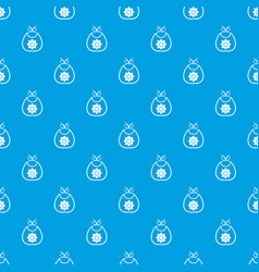 Baby bib pattern seamless blue vector