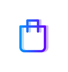 bag blue purple gradient icon pack symbol vector image