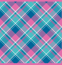 bagirl pink pastel color plaid seamless pattern vector image