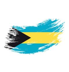 Bahamas flag grunge brush background vector