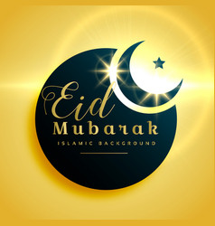 beautiful eid mubarak greeting card design with vector image