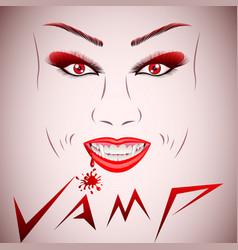 Beautiful vampire face vector
