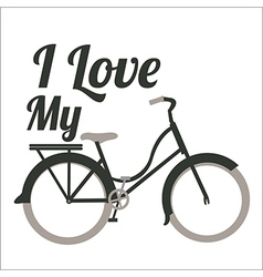 Bicycle riding on bicycle vector