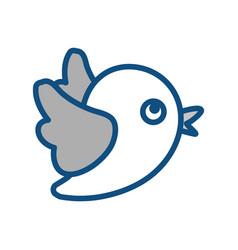 Birdie social network symbol vector