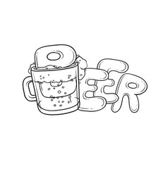 black and white sketch pint vector image