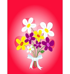 Bouquet of flowers card vector image