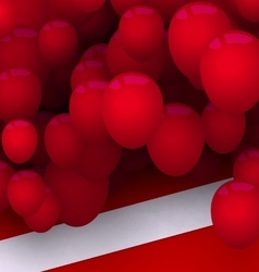 Bright Card with Red Balloons for Your Holiday vector image