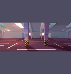 Cartoon underground car parking vector