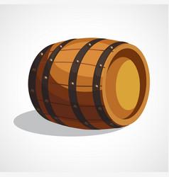 cartoon wooden barrel vector image