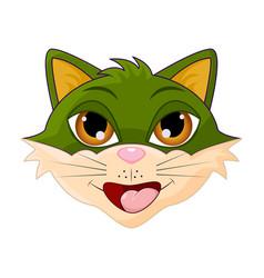 cat head cartoon symbol icon design vector image
