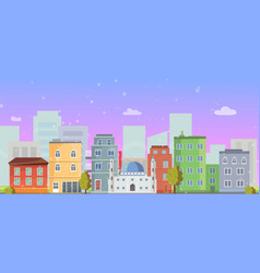 church in city christian building landscape vector image