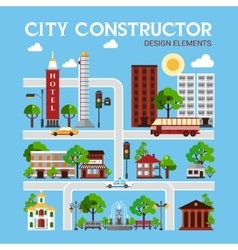 City Constructor Design Elements vector image