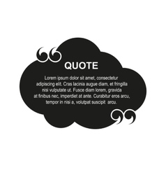 Cloud quote vector