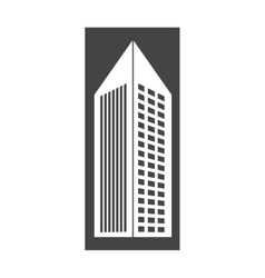 contour building with pointed top icon vector image